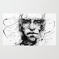 faces Area & Throw Rugs featuring lines hold the memories by agnes-cecile