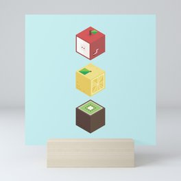 Fruit cubes Mini Art Print
