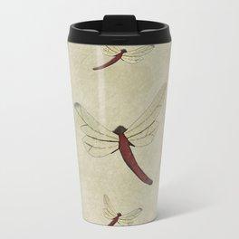 Parchment Dragonflies Travel Mug