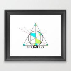 geometry mathematics trigonometry shapes text Framed Art Print