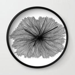 Jellyfish Flower B&W Wall Clock