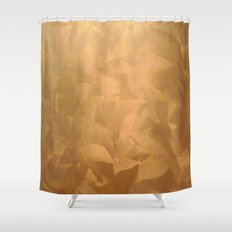 Brushed Copper Metallic - Rustic Glam - Faux Finishes Shower Curtain