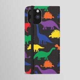 Dinosaurs - Black iPhone Wallet Case