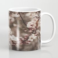 cherry blossom Mugs featuring Cherry Blossom by Evan Dalen