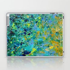 BEAUTY BENEATH THE SURFACE - Stunning Ocean River Water Nature Green Blue Teal Yellow Aqua Abstract Laptop & iPad Skin