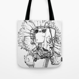 Flowered ATST Black and White Tote Bag