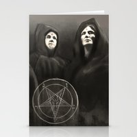 witchcraft Stationery Cards featuring Witchcraft by Corpse inc