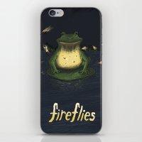 fireflies iPhone & iPod Skins featuring Fireflies by Ken Coleman