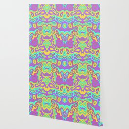 Hippie Party Mid Century Modern Retro Abstract Wallpaper