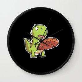 Dino Dinosaur T-Rex Cookie Chocolate Wall Clock