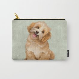 Smiling Dog (Havanese) Carry-All Pouch