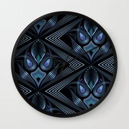 Art Deco 37. Black-blue satin . Wall Clock