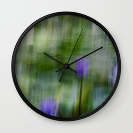 Tropical Impressionism (Purple Water Lily) Wall Clock