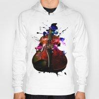 violin Hoodies featuring violin nebula by seb mcnulty