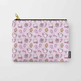 Cute Christmas // Pink Carry-All Pouch