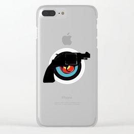 Hand Gun Target Clear iPhone Case