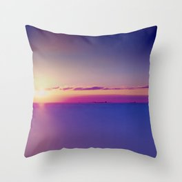 #Sunset on the #Atlantic #Ocean pastel #colors Throw Pillow