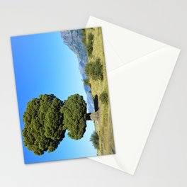 Big tree and patagonian landscape Stationery Cards