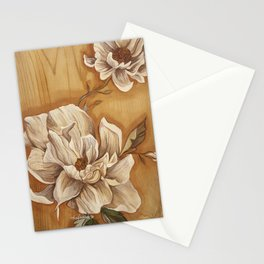 Magnolia on Wood Stationery Cards
