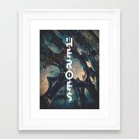 heroes Framed Art Prints featuring Heroes by bica Studio