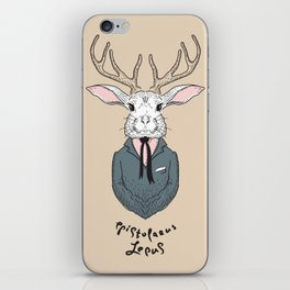 Epistolarus Lepus (almond) iPhone Skin