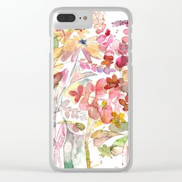 Wild flowers IV Clear iPhone Case