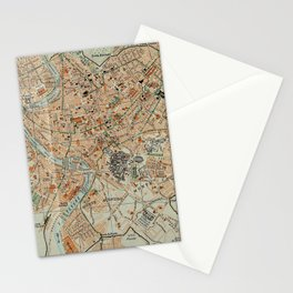 Vintage Map of Rome Italy (1911) Stationery Cards