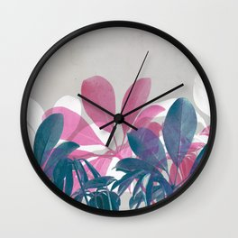 Greenery Mix #2 Wall Clock