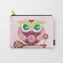 Spring Blossom Owl Carry-All Pouch
