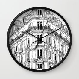 Parisian Facade Wall Clock