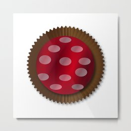 Chocolate Box Wrapped In Foil Metal Print