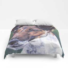 SMOOTH FOX TERRIER dog art portrait from an original painting by L.A.Shepard Comforters