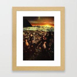 sprint across deserted fields... Framed Art Print
