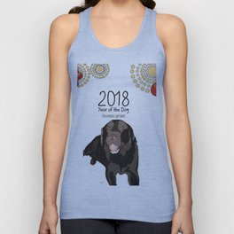 Year of the Dog - Chocolate Labrador Unisex Tank Top