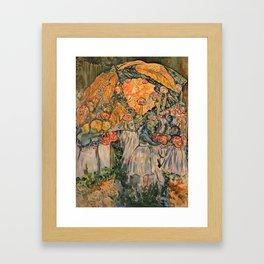 Corinne Duret ,artiste peintre Framed Art Print