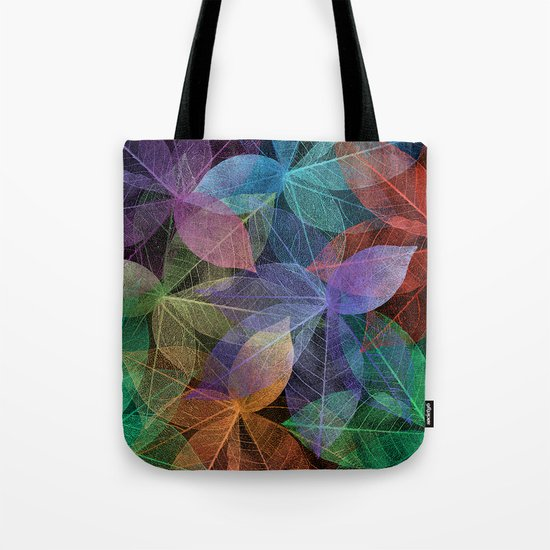 Colored Leaf Pattern 2 Tote Bag