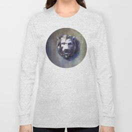 Lion head Black Marble Long Sleeve T-shirt