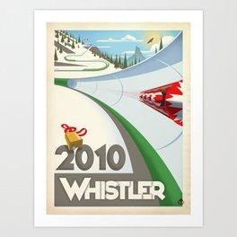 "Minimalist Whistler ""Olympic Boblsed"" Travel Poster Art Print"
