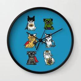 Superhero Puppies Wall Clock