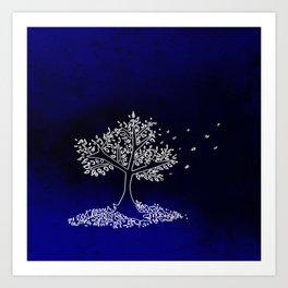 Wind On a Blue Day Art Print