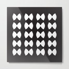 Pasta Series: Farfalle Pattern, Black Metal Print