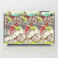 the neighbourhood iPad Cases featuring Tur-Town by Yoshi Andrian