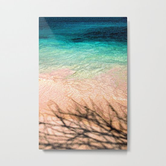 SEA AND TREE Metal Print