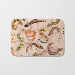 Leopard Gecko Lizard Morphs Bath Mat