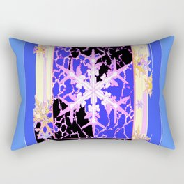 """""""Frozen"""" Blue Snowflake Pattern Art Rectangular Pillow"""