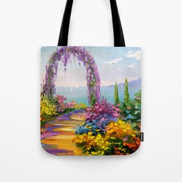 Blooming arch Tote Bag