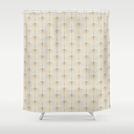 Golden Fan Art Deco Classic Pattern Shower Curtain