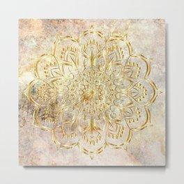 Mandala - Golden Era Metal Print