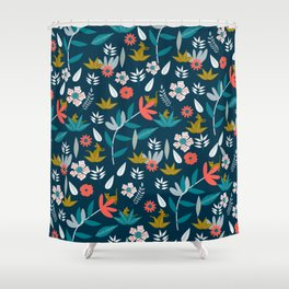 Floral hide and seek Shower Curtain