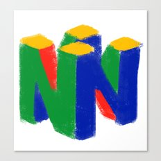 N64 Painting Canvas Print